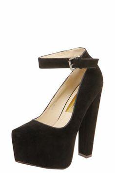 Amie Ankle Strap Block Heel Platforms at boohoo.com