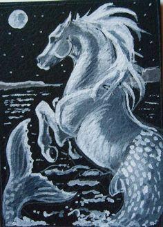 Mer Horse or Hippocampus by echdhu on DeviantArt
