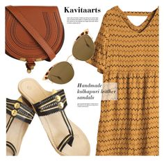 """""""Kavitaarts"""" by monmondefou ❤ liked on Polyvore featuring Chloé, Ahlem, RoyalLeatherSandals and Kavitaarts"""