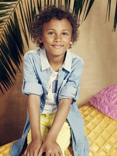 Campaign image kids fashion by MINI A TURE Copenhagen for SS15.