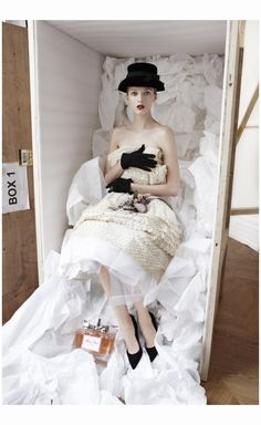 Daria Strokus - The Dior Ateliers. Miss Dior dress, Haute Couture. Spring-Summer. 1961 Dior Couture Patrick Demarchelier