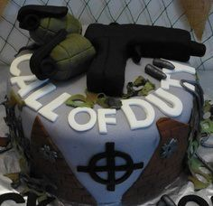 Call of Duty Black Ops Cake Black ops cake Cake and Birthday cakes