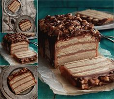 No Bake Snickers Cake