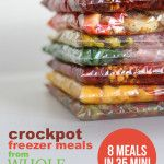 Crockpot freezer meals from Whole Foods (8 meals in 35 min!)