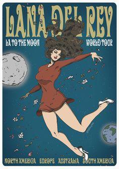 LA to the MOON tour poster by PHATboyArt.deviantart.com on @DeviantArt