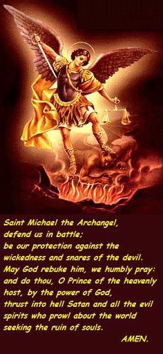 Saint Michael protect our beloved police and law enforcement.