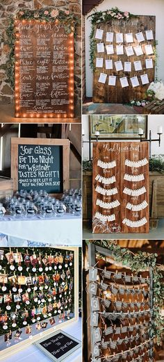 chic rustic seating chart display wedding ideas for 2018