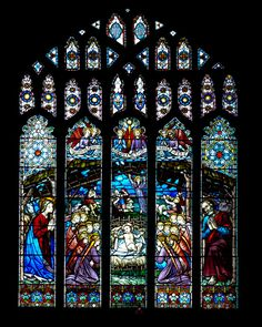 The Nativity Window Stained Glass Church, Stained Glass Art, Stained Glass Windows, Mosaic Glass, Chester Cathedral, Cathedral Church, True Meaning Of Christmas, Church Windows, Holy Night