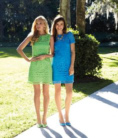3e381ad7b4a6df Lilly Pulitzer Spring '13- Tabitha and MarieKate Dresses in our  hand-designed Battenburg