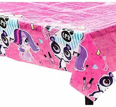 Littlest Pet Shop Table Cloth and Littlest Pet Shop Party Ideas Barbie Birthday, 9th Birthday, Birthday Ideas, Little Pet Shop, Little Pets, Birthday Party Tables, Birthday Decorations, Lps, Secret Life Of Pets