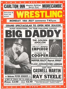wrestling poster, morecambe by maraid, via Flickr
