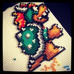 Bowser Nabbi perler beads by marneconcarne
