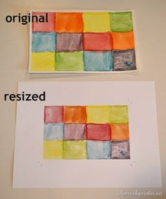 How to Resize Kid's Artwork for Framing - HOT tip just in time for back-to-school!