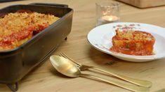 Rotolo met tomatensaus | Dagelijkse kost Veggie Recipes, Pasta Recipes, Vegetarian Recipes, Pasta Noodles, Macaroni And Cheese, Casserole, Food And Drink, Veggies, Pizza
