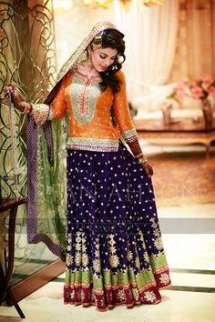 Pakistani Bridal Mehndi Dresses Collection 2015 | Globalemag — Lukkin