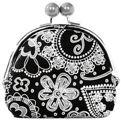 Double Pinch Coin Purse (Black Paisley Parade) www.mythirtyone.com/merritaylor