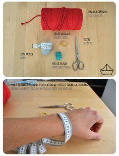 diy pulsera de cuerda con trenza