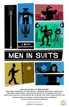 My friends at Wyrd Studios, makers of Lovecraft: Fear of the Unknown, have a new documentary coming out soon - Men in Suits. Love this poster!