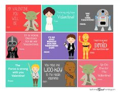 Free Star Wars Printable Valentines -OHMYGOSH doing these RIGHT. NOW.