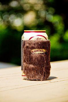 DIY Idea: Make a Bearded Beer Cozy | Man Made DIY | Crafts for Men | Keywords: beard, facial-hair, mustache, hipster