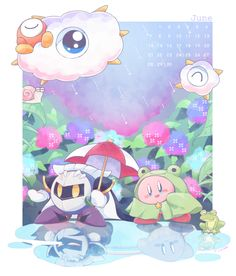 Why is Kirby dressed like a frog lol?