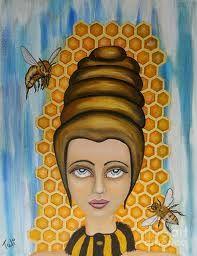 queen bee paintings -