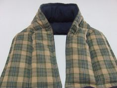 Long Microwave Neck and Shoulder Wrap Plaid