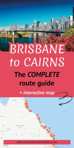 Get your FREE preparation guide for Australia and explore every possible stop on the route between Brisbane and Cairns. This is the COMPLETE route guide for your Australian East Coast Road trip Coast Australia, Visit Australia, Australia Travel, Queensland Australia, Western Australia, Travel Inspiration, Travel Ideas, Travel Tips, Brisbane To Cairns