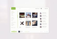 A metro/flat design mock of Spotify by Nathan Yates. If only it was actually this cognitively simple.