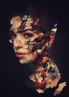 #GRAFICA #FOTOGRAFIA I ritratti inconfondibili ed elaboratissimi di Alberto Seveso: un fantastico mix di fotografia e grafica fatto di scomposizioni e stratificazioni di forme e colori.