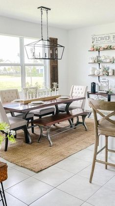 Dining Bench, Dining Room, Home Free, Unique Colors, My Dream Home, Kitchen Ideas, Decorating Ideas, House, Furniture
