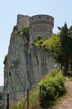 The fortress of San Leo, Emilia Romagna, Italy