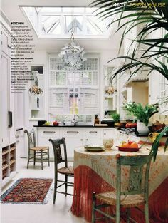 Love the kitchen remodel, don't you just love the serape I brought from Spain?