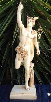 Hermes - messenger of the gods; god of commerce, speed, thieves, and trade.