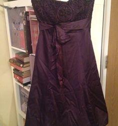Purple Warehouse Dress Satin/plum/party/bridesmaid Size 10 Net Trim Underskirt | eBay
