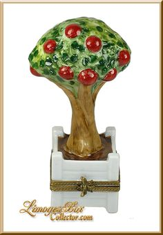 Apple Tree in Planter Limoges Box