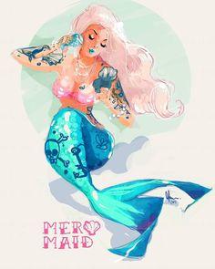 "933 Me gusta, 10 comentarios - Mermaid Identity  Mermaid Lyf (@mermaid_salon) en Instagram: ""Look at this incredible artwork we just opened our inbox to!  look at her brush! I CANT…"""
