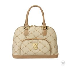 - FERI Monogram ladies bowler bag with pocket  - Made with signature pattern canvas  - Genuine leather trim  - Soft velvet lining  - Customized FERI hardware throughout  - Exterior zippered pocket  - Colour: Beige Monogram | Shop this product here: http://spreesy.com/canadianluxuryfashion/8 | Shop all of our products at http://spreesy.com/canadianluxuryfashion    | Pinterest selling powered by Spreesy.com