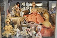 great display....of doll heads...half dolls....plus....love...