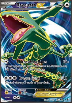 Rayquaza EX Full Art) - XY - Roaring Skies, Pokemon - Online Gaming Store for Cards, Miniatures, Singles, Packs & Booster Boxes Pokemon Real, Flying Type Pokemon, Pokemon Alola, Cool Pokemon, Pokemon Fusion, Pokemon Card Memes, All Pokemon Cards, Pokemon Rayquaza, Pokemon Go Trading