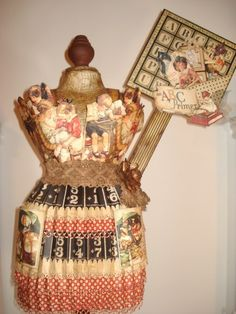 Awesome altered An ABC Primer dress form by Patricia Da Silva! Love this! #graphic45