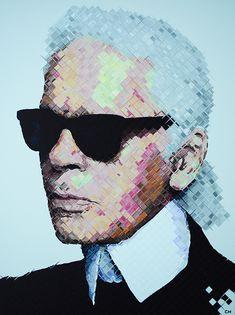Karl Lagerfeld Painting #charliehanavichart #fashion #painting #karl Karl Lagerfeld Choupette, Andy Warhol, Anna Wintour, Art Google, Pop Art, Dress Patterns, Amazing Art, Fashion Painting, Caricatures