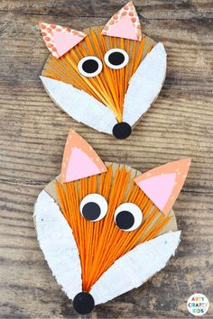 Yarn Wrapped Fox Craft: A fun and simple interactive Autumn craft for kids; Incorporating drawing, cutting, painting, gluing and threading, it's a wonderful refresher for those all important fine motor skills. The engaging and tactile craft can be used to support school learning topics. Preschool Fox Crafts for Kids Woodland Animals | Yarn Wrapping Crafts for Kids | Yarn Wrapped Animals | Preschool Fall Crafts for Kids Autumn | Woodland Animal Crafts for Kids #preschool #KidsCrafts