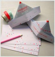 paper hat invitation