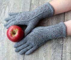 Купить Перчатки Зимняя сказка темно-серые - зимняя мода, зима 2017, подарок