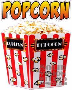 "14"" Popcorn Pop Corn Vending Concession Trailer Decal"