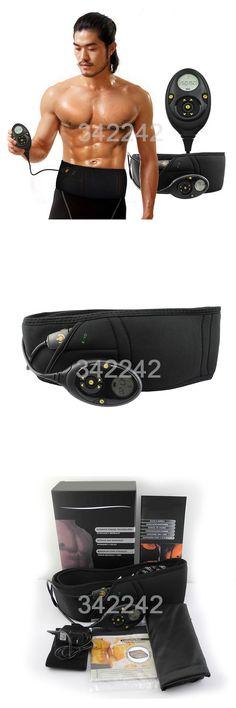 [Visit to Buy] Best Smart slimming massage belt EMS Muscle stimulator Unisex Abs Abdominal Muscle Toner Core Abs Workout Belt 10 training mode #Advertisement