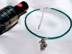 Pretty seahourse beaded anklet and polish duo