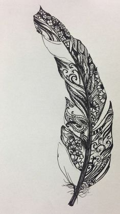 henné-naturel-décoration-tatouage-plume-graphique-idée-henne