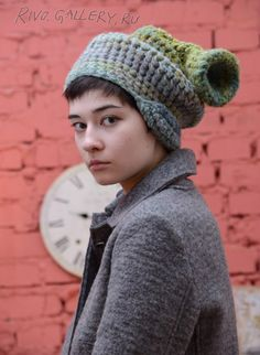 (c) Natalia Rivo 2015 Gallery.ru / foto - Elena Kvita - Available - в наличии Knitted Hats, Crochet Hats, Freeform Crochet, Chrochet, Different Shapes, My Works, Winter Hats, Knitting, Gallery